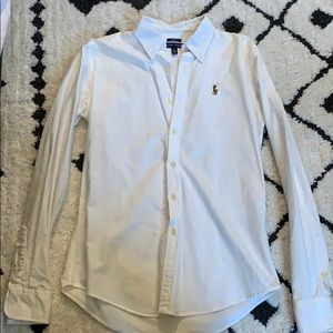 LIKE NEW: Ralph Lauren white button up slim fit